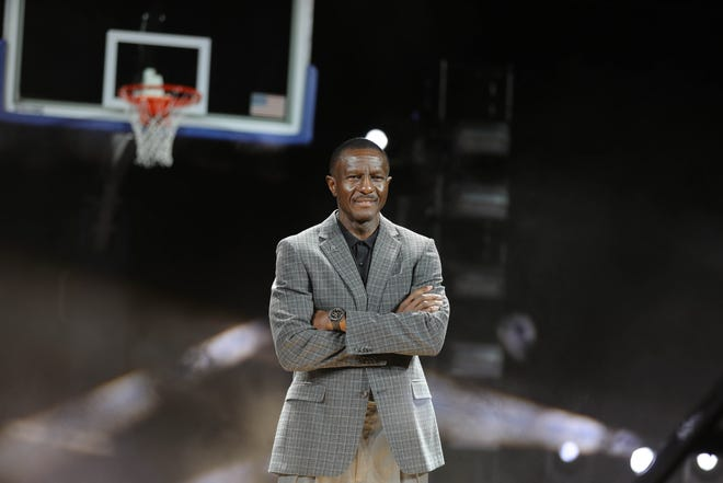 Detroit Pistons head coach Dwane Casey during media day at Little Caesars Arena in Detroit on Monday, Sept. 24, 2018.
