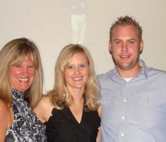 Debbie Smith, with daughter, Cressie Boggs  and, son, Matthew Smith in September 2009.