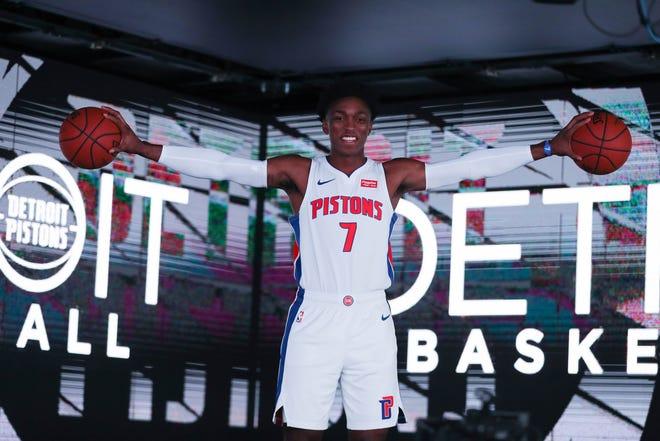 Detroit Pistons forward Stanley Johnson during media day at Little Caesars Arena in Detroit on Monday, Sept. 24, 2018.