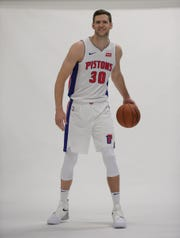 Jon Leuer during 2018 media day.