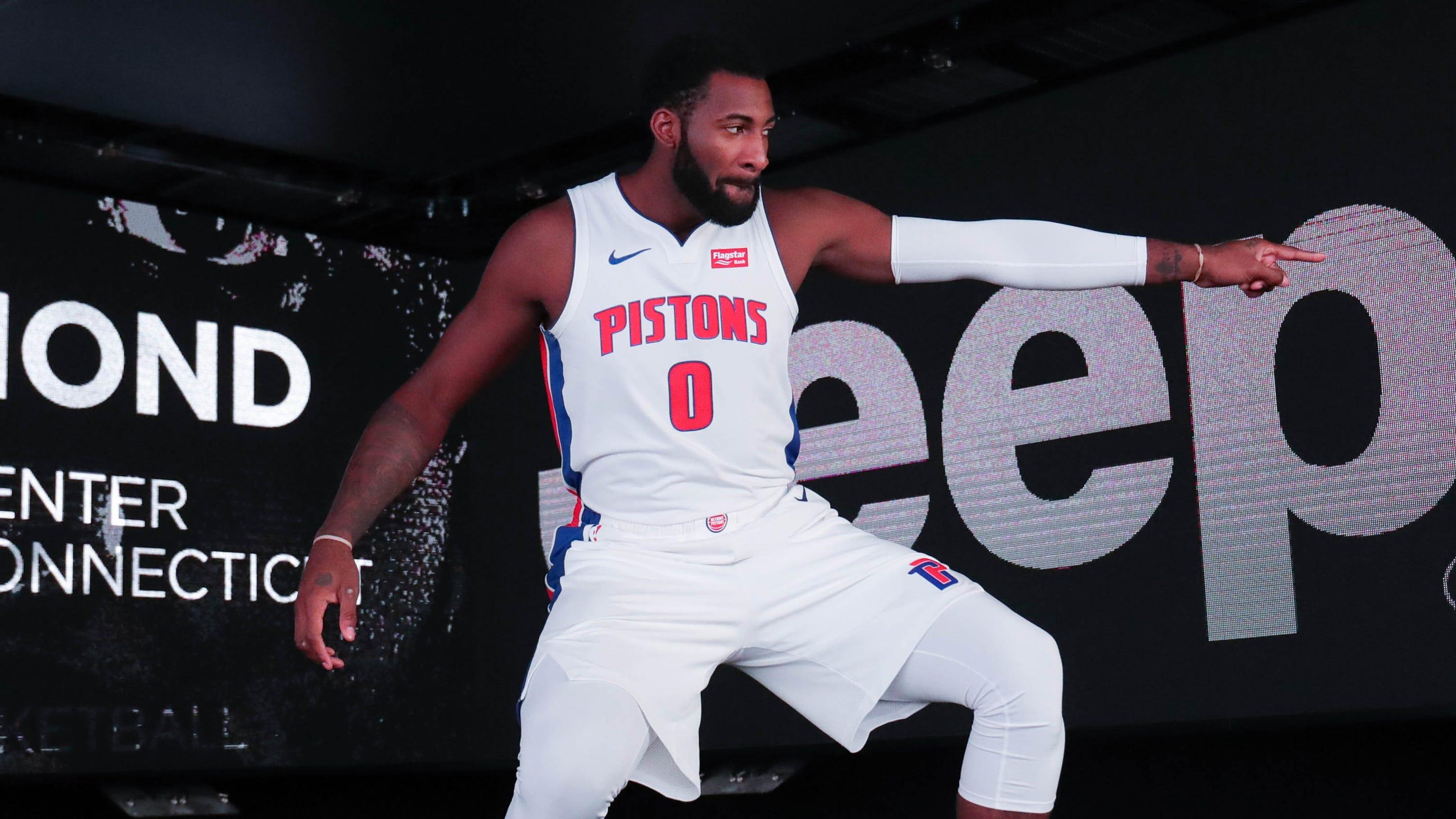 hot sale online b491e 2bef4 Detroit Pistons coach Dwane Casey won t end Andre Drummond 3-pointers