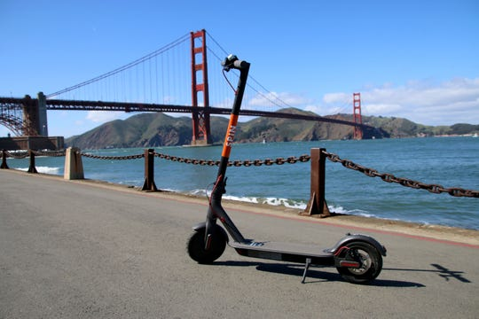 A scooter from Spin in San Francisco. The company says it plans to launch in Detroit in the future.