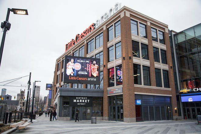 Little Caesars Arena in Detroit, Thursday, Dec. 21, 2017.