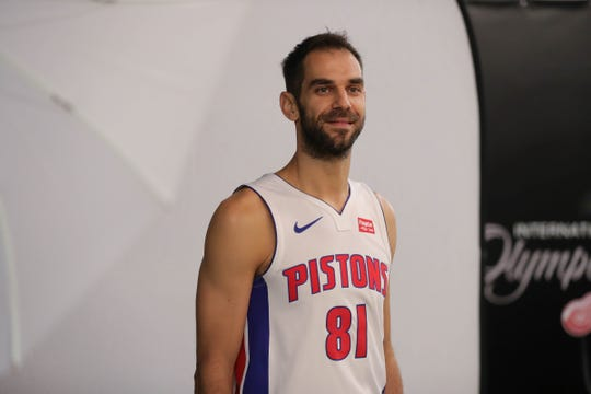 Jose Calderon during 2018 media day.