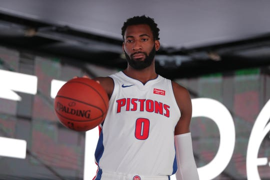 Andre Drummond during 2018 media day.
