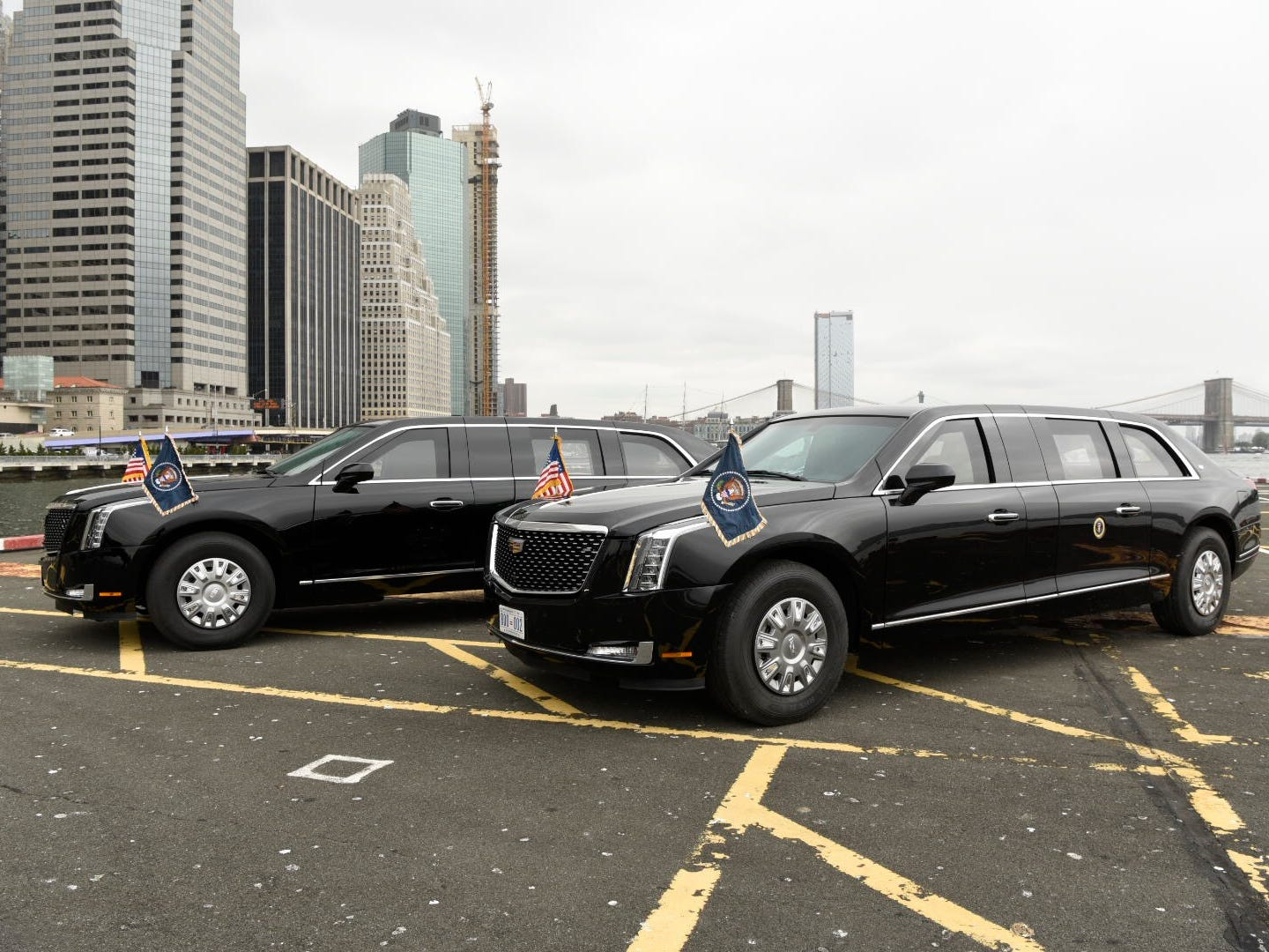 The new 2018 presidential limo made by Cadillac debuts in New York, NY at the 73rd United Nations General Assembly.