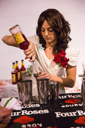 Bartender Kaytee Querro from Chartreuse Kitchen & Cocktails at the Detroit Cocktail Classic.