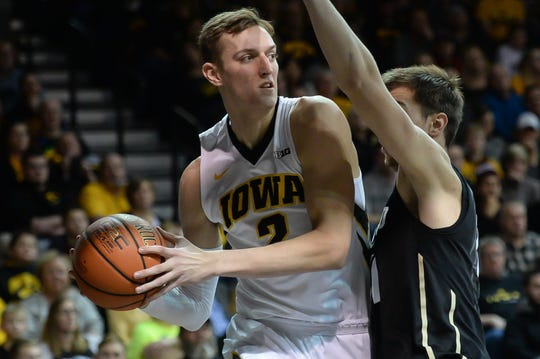 Iowa's Jack Nunge averaged 5.7 points and 2.8 rebounds in roughly 16 minutes per game as a freshman last season.