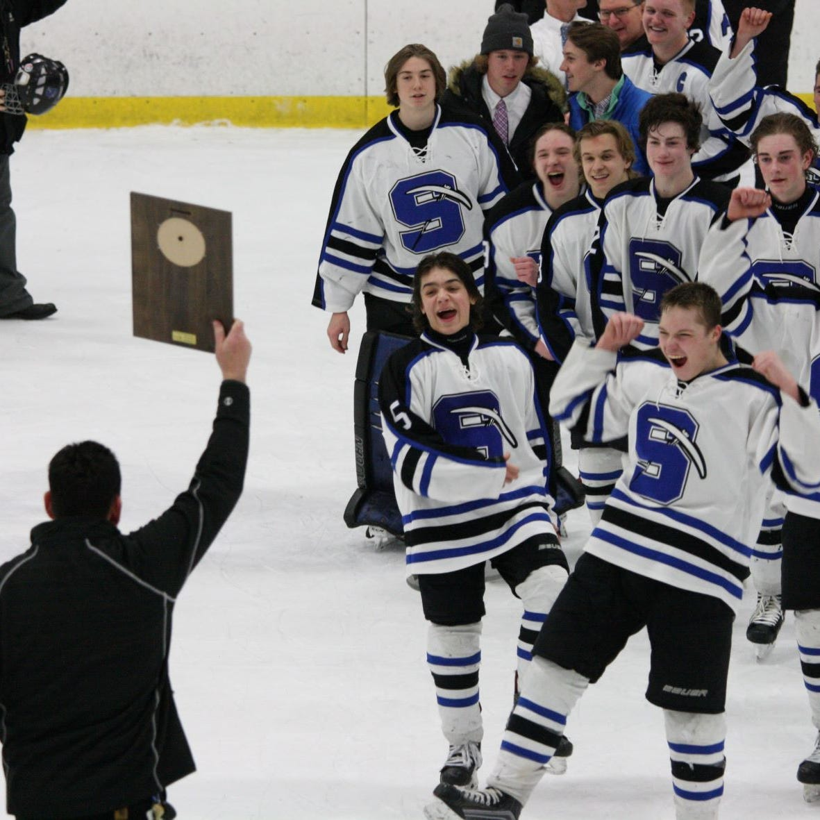 National high school association honors former St. Mary's Springs hockey coach