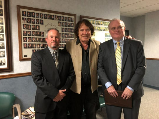 George Panoussis, center, is pictured with his legal representation, including Daniel Kaminsky, left, Monday, Sept. 24, 2018 inside the Fond du Lac City/County building.