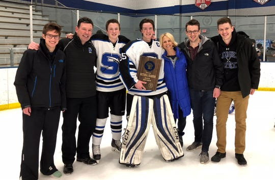 Former St. Mary's Springs hockey coach Tim Ahern coached all five of his sons in his 11 years with the program.
