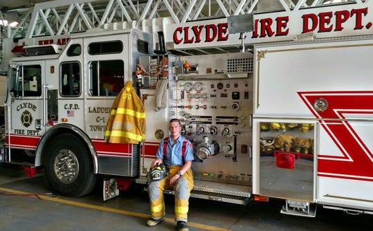 Clyde firefighter Matthew Davenport
