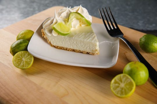 Key lime pie, such as this slice from Deep Lagoon, is the official dessert of the state of Florida.