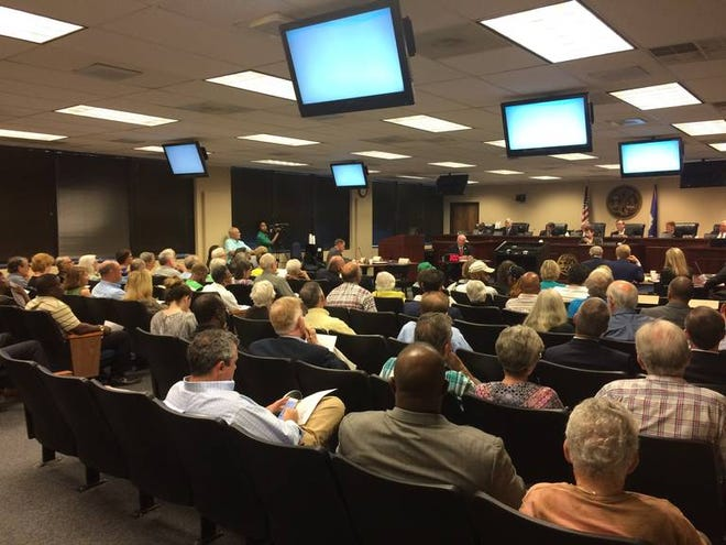 About 100 SCE&G customers packed into a hearing room Monday, Sept. 24, 2018, before the S.C. Public Service Commission to vent their frustrations and plead for permanent rate relief from a failed nuclear expansion project that will never generate power.