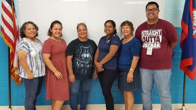 Guahan Academy Charter School 2018-2019's newly elected officers of the Parent Teacher Organization. Pictured from left: Mary Mafnas, dean of elementary school  Guahan Academy Charter School; Divina Danila, treasure; Bernice Cauthen, president; Valine Solang, recording secretary; Teresita Cruz, dean of high school  Guahan Academy Charter School; T'Nel Mori, communication secretary.
