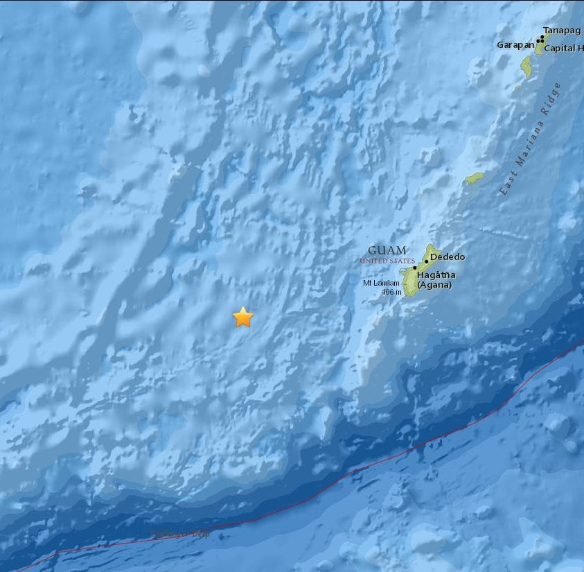 4.4 magnitude earthquake strikes offshore Merizo