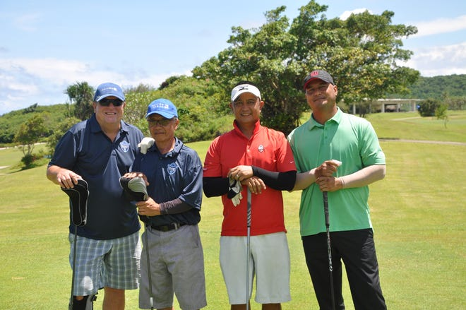 The Chinese Chamber of Commerce of Guam held its fourth annual Classic Golf Tournament at the Country Club of the Pacific on Sept 8, 2018. Pictured from left: Art Day (regional director, APAC Operations), Jess Torres (retired), Ken N. Duenas (general sales manager, Glimpses Publications) and Louie Sunga (Guam Air National Guard).