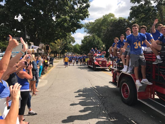 The Carmel Homecoming Parade begins at 1 p.m. Friday, Sept. 28 at the high school and continues through downtown