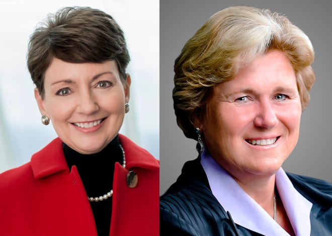 Lynn Good, left, and Gail Boudreaux are two CEOs with Indiana ties who ranked high on Fortune's annual list of the most powerful women.