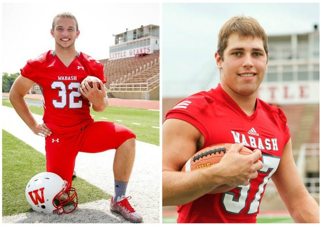 Wabash College football players Evan Hansen (left) and Austin Weirich (right) both died by suicide on Sept. 10, World Suicide Prevention Day.