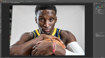 From begin to end, this is what editing a portrait from the 2018-19 Pacers media day looks like.