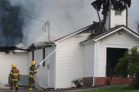 Harris Chapel Baptist Church was set on fire Wednesday, July 15, 2009. Authorities ruled it was arson but no one has been charged.