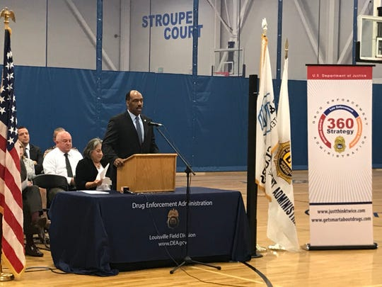 D. Christopher Evans, Special Agent in Charge for the U.S. Drug Enforcement Administration, announces Tuesday at the Boys and Girls Club that Knoxville will pilot the DEA's 360 Strategy.