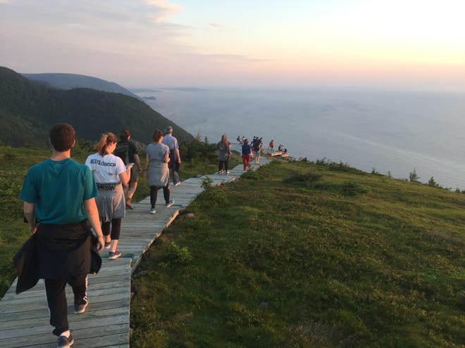 A sunset hike on the Skyline Trail is a must-do activity at Cape Breton Highlands National Park, Nova Scotia.