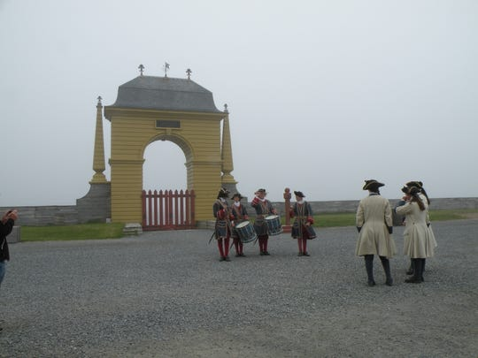 On the rocky shoreline of Cape Breton, the Fortress of Louisbourg represents a prosperous period of fishing and trading in Nova Scotia's history, as well as decisive military sieges and naval blockades. Costumed historical interpreters gather at the city gate.