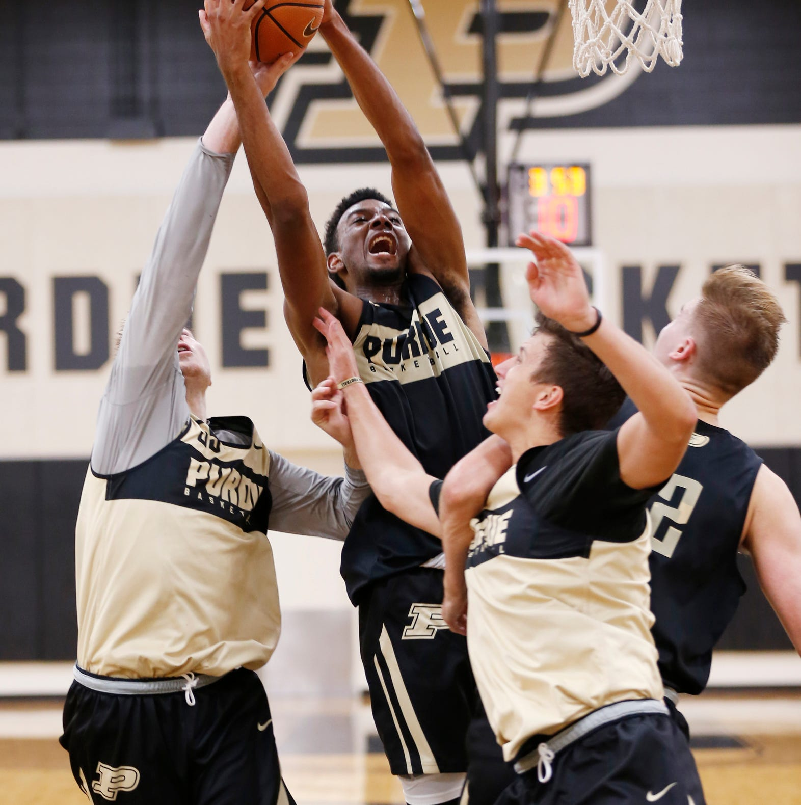 Purdue basketball arranging the puzzle pieces with 2018-19 practices underway