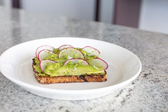 Avocado toast is one of the many snacks that will be available on the menu at the Hu. Hotel rooftop bar.