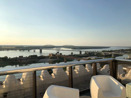 The new rooftop bar at Hu. Hotel offers views of downtown Memphis.