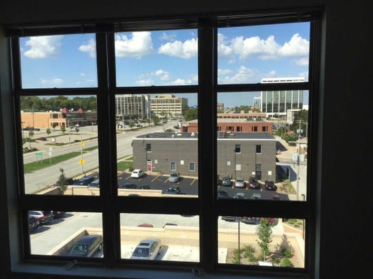 The 2100 overlooks Wauwatosa's Mayfair Road. Its windows feature insulation that conserves energy and deadens traffic noise.