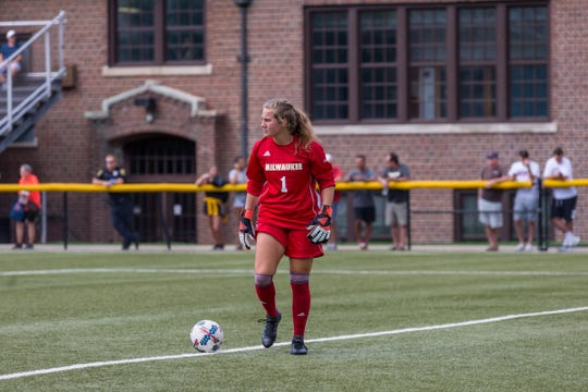 Elaina LaMacchia, a freshman from Cedarburg High School, took over as the role as No. 1 goalkeeper after Mallory Guertz finished her time at UWM.