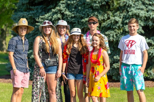 For themed days at Elkhart Lake-Glenbeulah High School, students and faculty dress up like they're tourists.