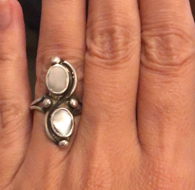 A silver and pearl ring that is a beloved family keepsake was on the finger of Tammie Figlinski and then suddenly it was not. The family is offering a reward to anyone who finds it.