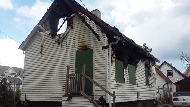 A 12-year-old boy was killed Monday night in a fire in this home in the 2500 block of North 5th Street.