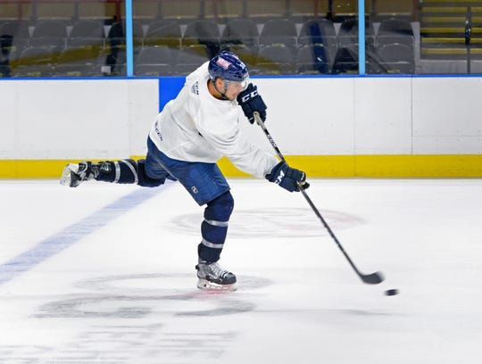 Defenseman Alex Carrier, with two full seasons in Milwaukee, is one of the most established Admirals.