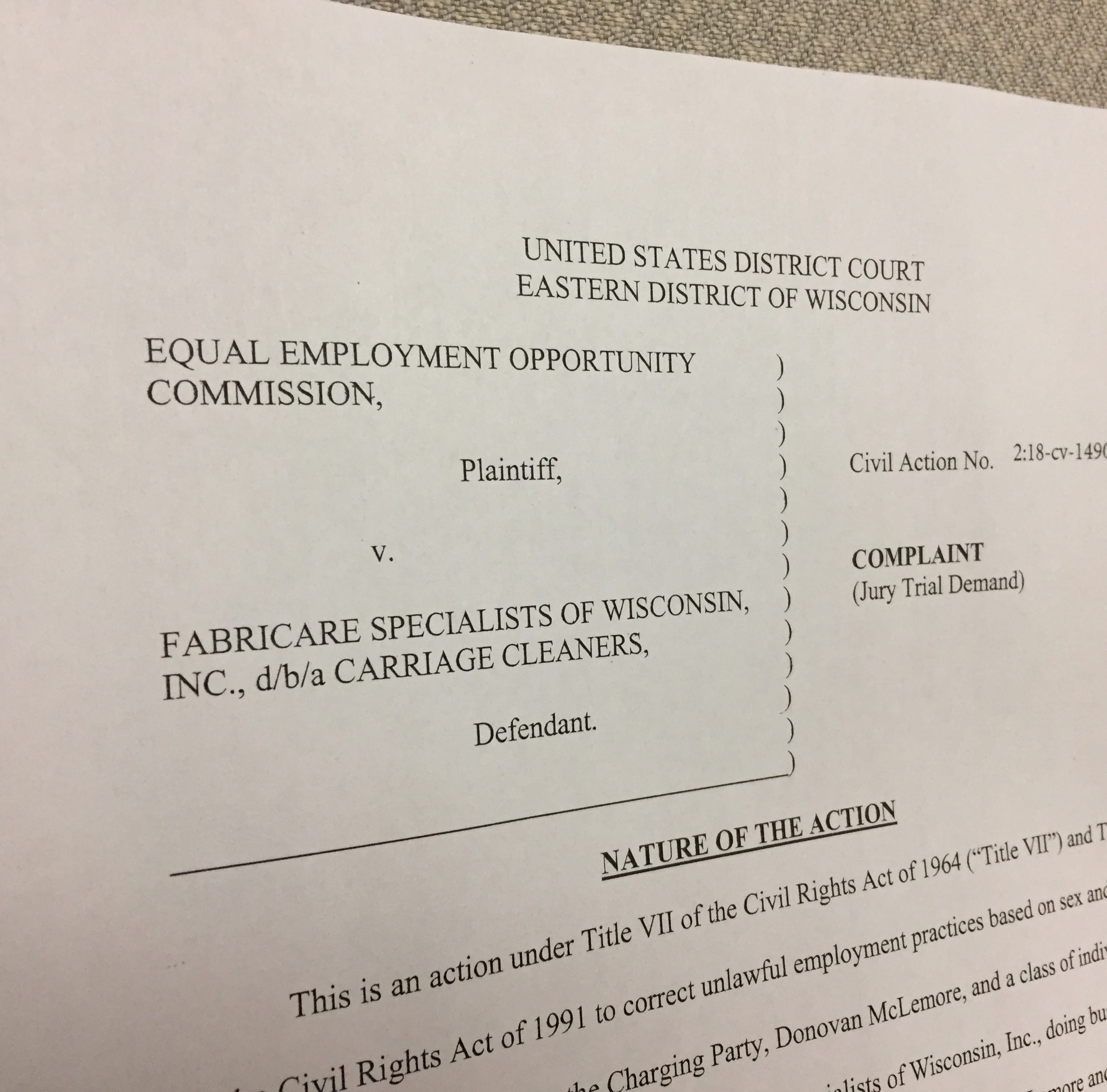 Milwaukee dry cleaner discriminated against a job applicant because he was a man, EEOC says