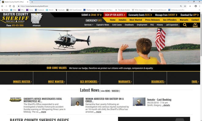 The Baxter County Sheriff's Office recently received recognition for its website.