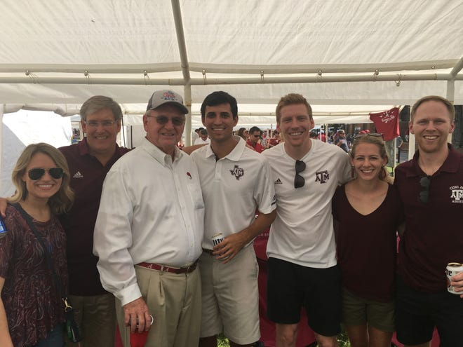 Mickey Griffin tail-gating with some new found Texas A&M friends prior to last Saturday's game in Tuscaloosa.