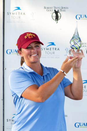 Symetra winner Kendall Dye trailed by two shots, but a 6-under-par 66 performance erased that deficit and helped her claim her fourth career Symetra Tour title and second this year. The University of Oklahoma alum from Edmond, Okla., concluded the 19th event of the Symetra Tour season at 16-under overall, one shot ahead of Ruixin Liu of Dalian, China and Min Seo Kwak of Seoul, Republic of Korea.