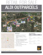 Flyer shows the location of Montgomery's Aldi.