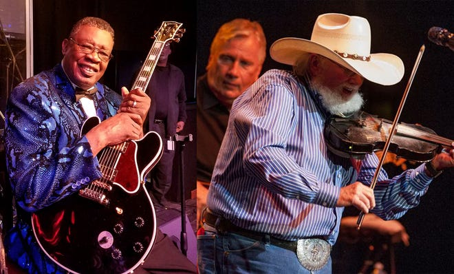 Montgomery blues artist Stanford Barnes, left, is opening for country icon Charlie Daniels on Saturday.
