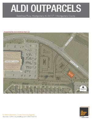 Flyer shows the location of Aldi's in Eastchase.