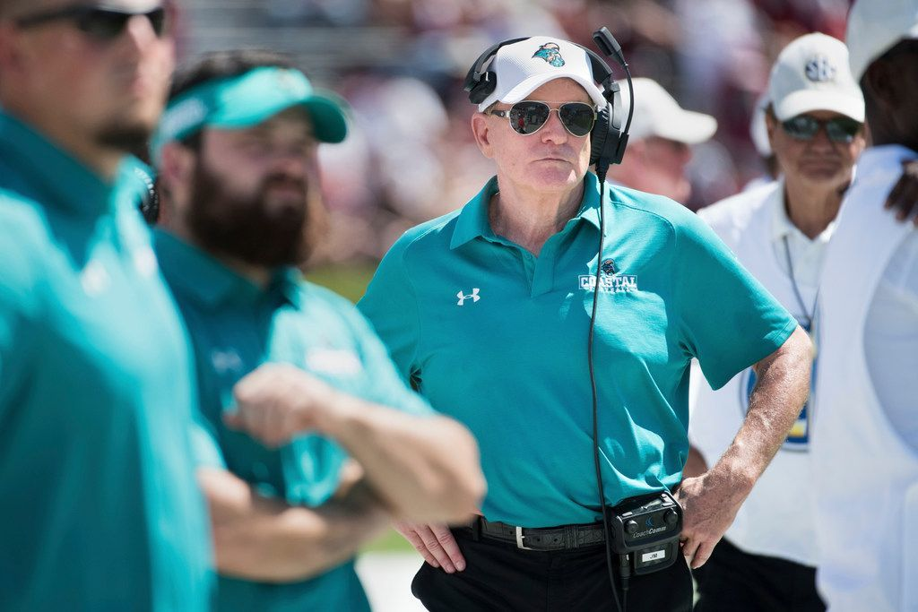 Joe Moglia is in his sixth season as Coastal Carolina's head coach.