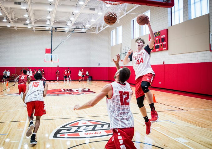 Ball State held its first open practice in their new Shondell Center practice facility Tuesday, Sept. 25, 2018.