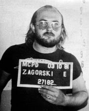 The 1983 police mug of Edmund Zagorski on charges of first-degree murder. Zagorski is accused of killing John Dale Dodson, 28, a Hickman County logger and Jimmy Porter, 35, a Dickson tavern owner.