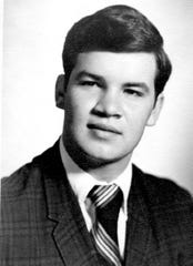 Russ Taff poses for his senior photograph when he was a student at Cutter Morning Star High School in 1971 in Hot Springs, Arkansas.