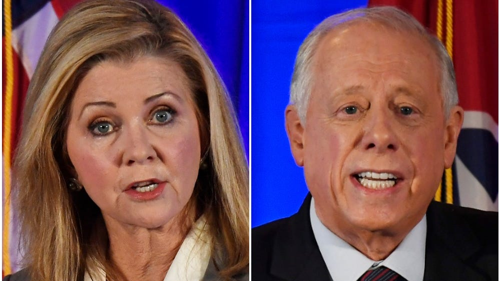 Republican Marsha Blackburn and Democrat Phil Bredesen debated Tuesday at Cumberland University.